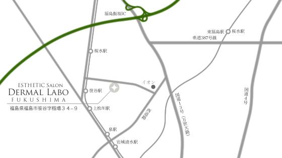 メディカルサロン ダーマルラボへのアクセス地図